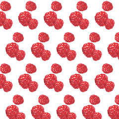 Fresh Raspberry Vector pattern background