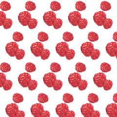 Fresh Raspberry Vector pattern background