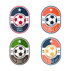 Set of Soccer Football Badges,vector illustration