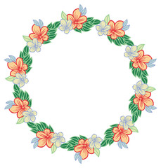 Flower wreath. Design element for logo, banners, labels, prints, posters, web, presentation, invitations, weddings, greeting cards, albums. Vector clip art.