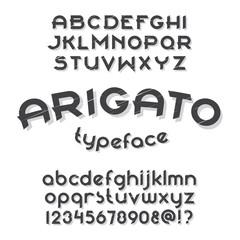 Arigato typeface set