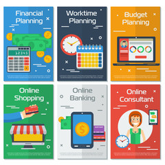 Six vertical banners FINANCIAL ACCOUNTANT