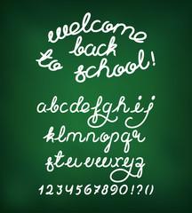Welcome back to school Handwritten alphabet
