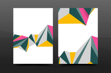 3d abstract geometric shapes. Modern minimal composition. Business annual report cover design.