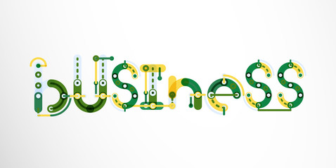 Business word lettering