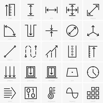 Quantity icons