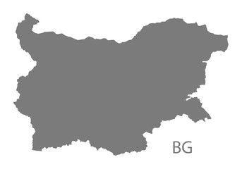 Bulgaria Map grey