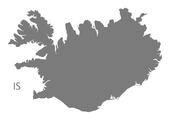 Iceland Map grey