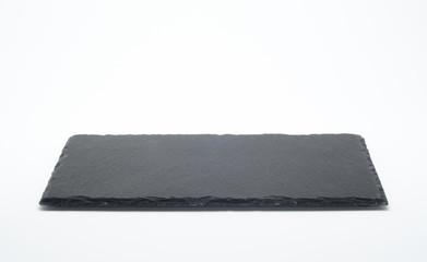 Plato de pizarra de color negro