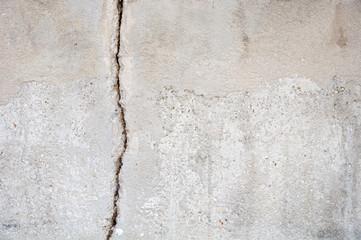 Fissure dans le mur d'une terrasse  à Marseille, France