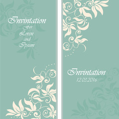 High quality wedding invintation or party invinatation card
