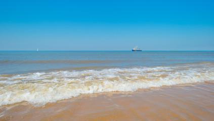 Sea along a beach in summer