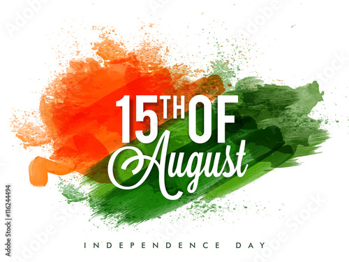 Poster Or Banner For Indian Independence Day Stock Image And