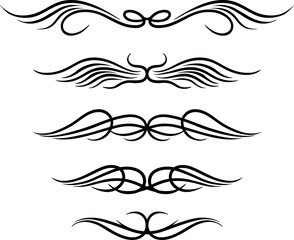 Set of wings tribal tattoo