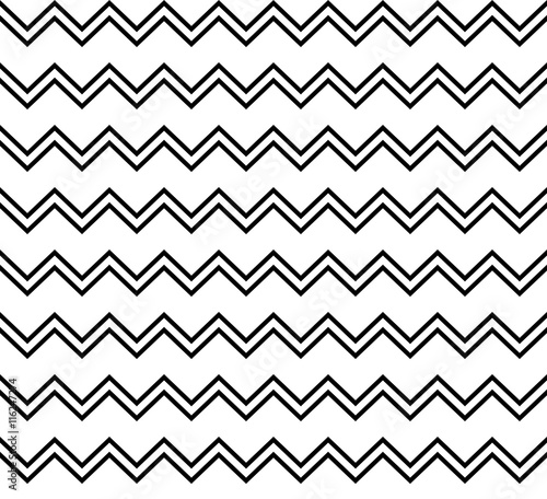 Vector Hipster Abstract Geometry Chevron Patternblack And White Seamless Backgroundsubtle