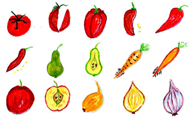 Fruits and Vegetables Art
