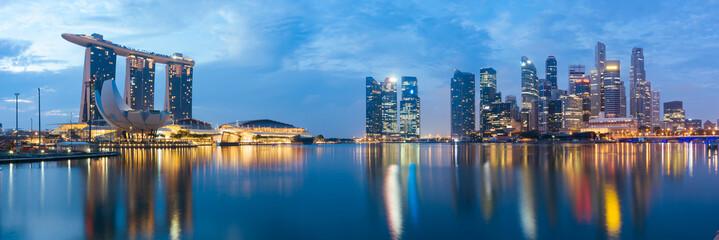 Foto op Canvas Singapore Singapore Central Business District at Dusk.