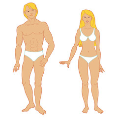 Templates of human's figure.