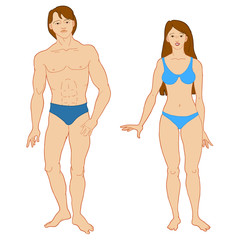 Templates of human's figure.