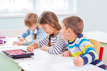 Children of the school bench