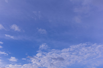 Blue sky with clouds background and texture