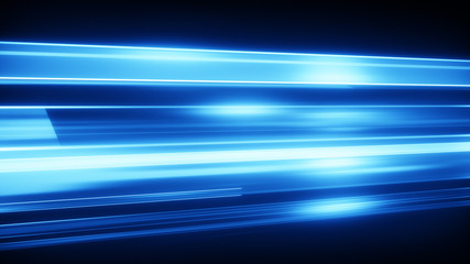 Blue light streaks abstract modern background