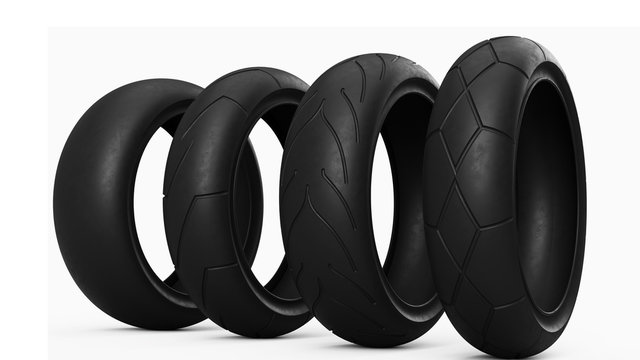 motorcycle tires 3d
