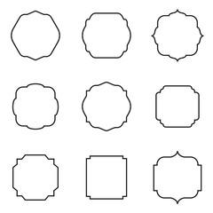 Set of retro square frame. Vector illustration