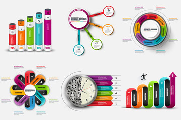 Set of infographic elements vector design template