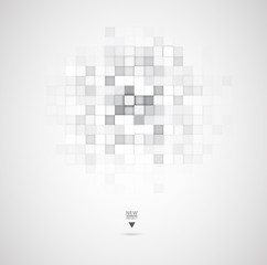 Abstract technology digital web site header. Banner background