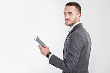 Young man with smart watch
