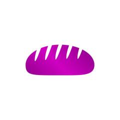 bread vector icon. Design style eps 10.