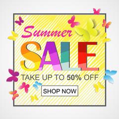 Sale banner template. Summer sale