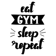 Sport typographic theme. Motivational and inspirational illustration. Letteryng. Good for logo, t-shirt design, banner, card, stamp, gym, bodybuilding or fitness club. Simple message.