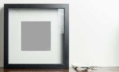 Air Travel blank Black Picture frame for memory photo