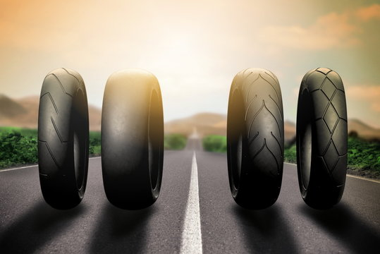 motorcycle racing tires on route 66