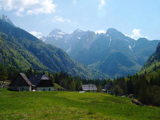 Fototapete - Stunning Alpine Valley view