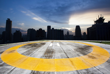 City rooftop heliport