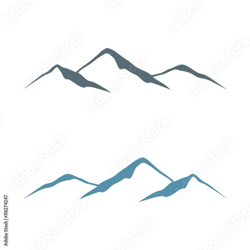 mountain lines logo template v 2 stock image and royalty free