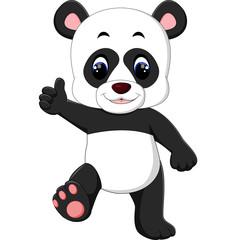 Cartoon panda presenting