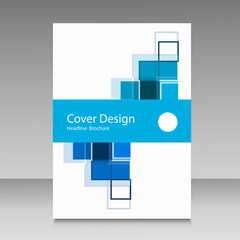 Abstract brochure template design with squares