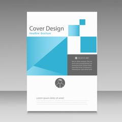 Abstract brochure template with squares elements