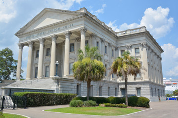 U.S. Custom House. Construction began in 1853 but was interrupted in 1859 due to costs and the possibility of South Carolina's secession from the Union, Charleston
