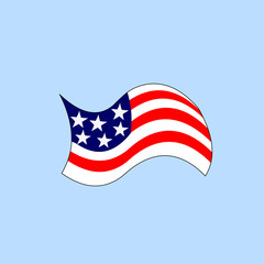 cartoon version of american flag