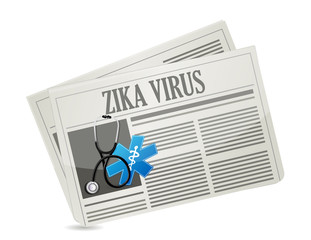 Zika Virus warning news sign concept