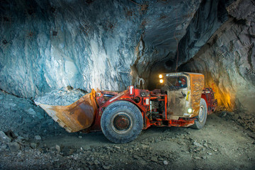 Gold mine tunnel