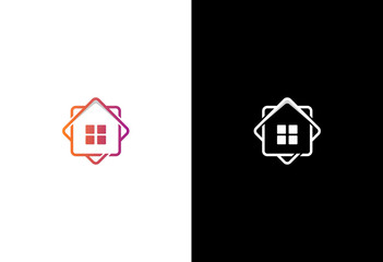 home icon square vector logo