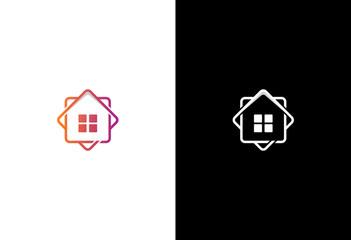 home icon square vector logo