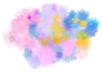 Abstract watercolor splash. Digital art painting