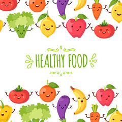 Healty food cartoon representing